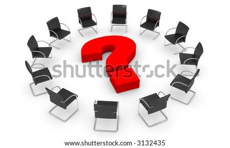 The big question - boardroom concept