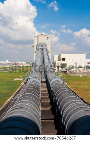 The big transport belt to move the lignite or coal to the electricity production systems