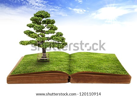 The big tree growing from a book