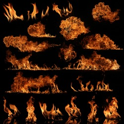 The biggest high resolution flame collection
