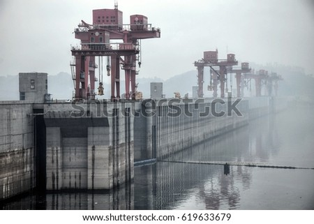 The Biggest Hydroelectric Power Station in the World - Three Gorges Dam on Yangtze river in China #619633679