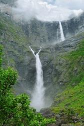 The biggest Norway waterfall, Vetisfosen.