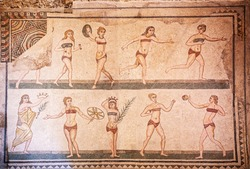 The Bikini Girls Roman Mosaic