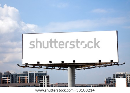 the billboard and road outdoor.