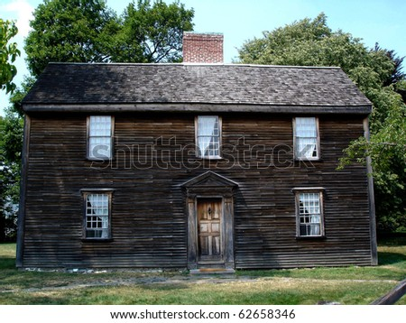 The birthplace of President John Adams in Quincy, MA