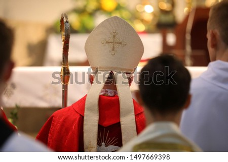 The bishop celebrates the celebration of Confirmation #1497669398