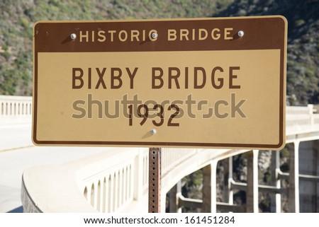 The Bixby Bridge on the west coast of California in Big Sur.