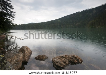The Black lake - the sumava mountains in The Czech republic