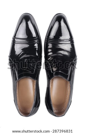 The black man's shoes isolated on white background. #287396831