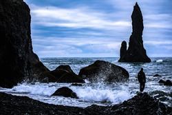the black sand beach in iceland