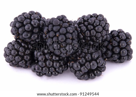 The blackberry berry on white background