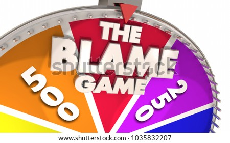 The Blame Game Deflect Responsibility Blaming Others 3d Illustration