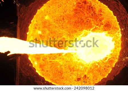 The blast furnace liquid metal