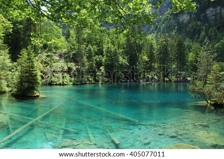 Shutterstock The Blausee lake, in Switzerland, is an incomparable natural wonder, with blue crystal water. Is surrounded by a natural park, perfect for hiking and a picnic.