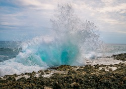 The blow holes in grand cayman