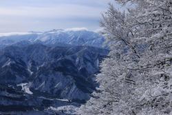 The blue and white world of Mt.Hakkai, winter in Minami Uonuma City, Niigata Prefecture, Japan
