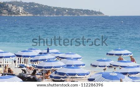 the blue coast of nice  france