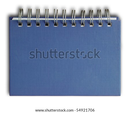 The Blue cover of Note book Horizontal