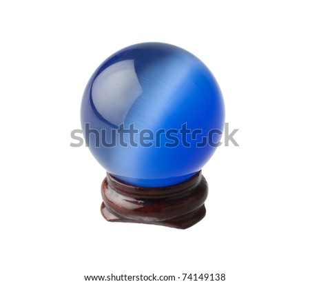 The blue crystal magic ball