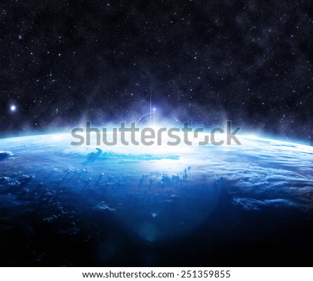 The Blue Earth - Elements of this Image Furnished by NASA #251359855