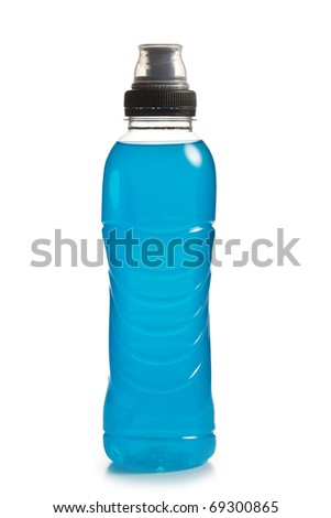 the blue energy drink in plastic bottle