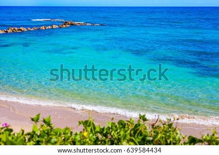 Shutterstock The blue lagoon in Puerto Plata
