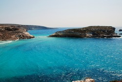 The blue Mediterranean sea of Lampedusa, Italy. Summer 2009.
