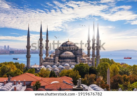 The Blue Mosque of Istanbul or Sultan Ahmet Mosque, Turkey