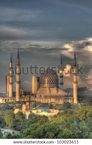 The Blue Mosque, Shah Alam, Kuala Lumpar, Malaysia