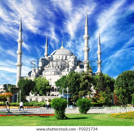 The Blue Mosque, (Sultanahmet Camii), Istanbul, Turkey