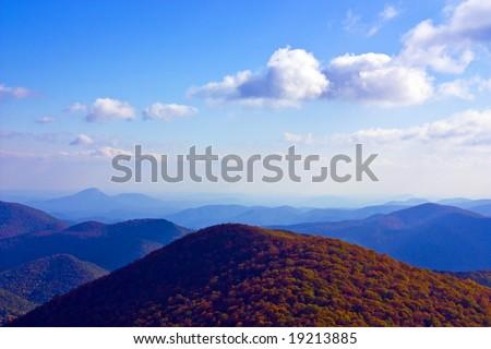 The Blue Ridge Mountain Range in north Georgia