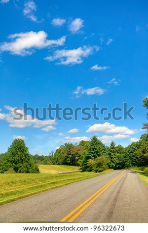 The Blue Ridge Parkway on a Summer Day