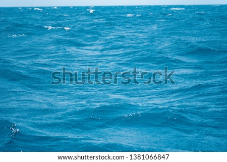 the blue sea use for background  #1381066847