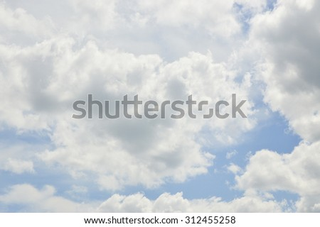 The Blue sky and white cloud - Shutterstock ID 312455258