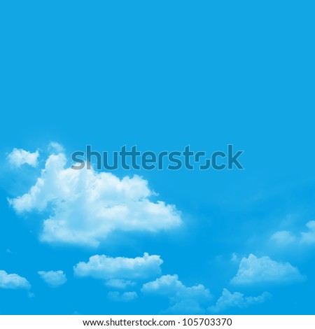 The Blue Sky Background With Some Space for Input Text Message