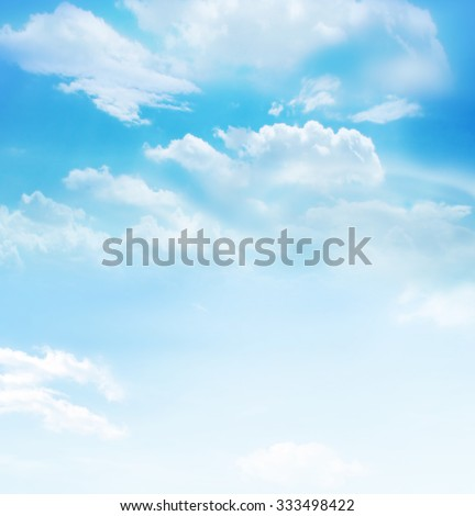 The blue sky with clouds, background - Shutterstock ID 333498422