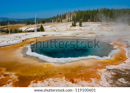 The Blue Star Pool in Yellowstone National Park