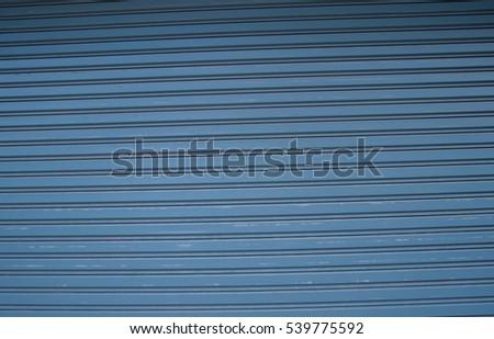 The blue steel soiling doors #539775592
