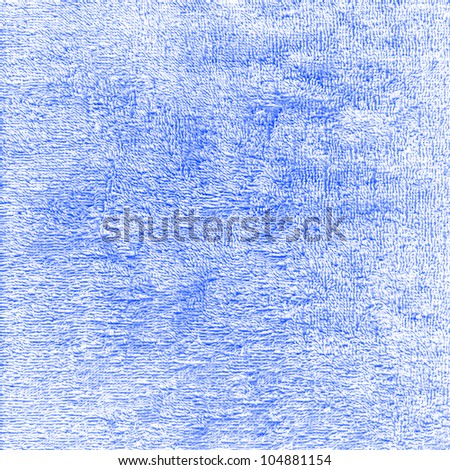 The blue texture terry cloth background