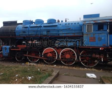 the blue train of Tito in belgrade Stock fotó ©