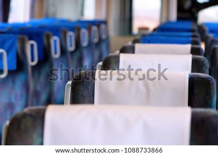 the blue velvet seats in...