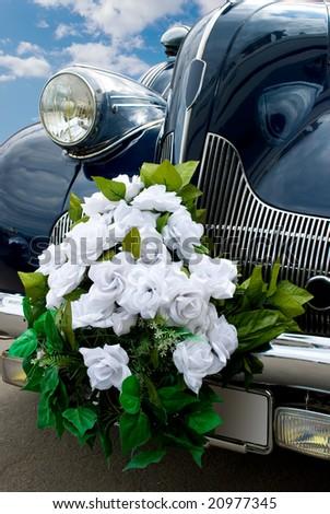 The blue wedding retro - automobile
