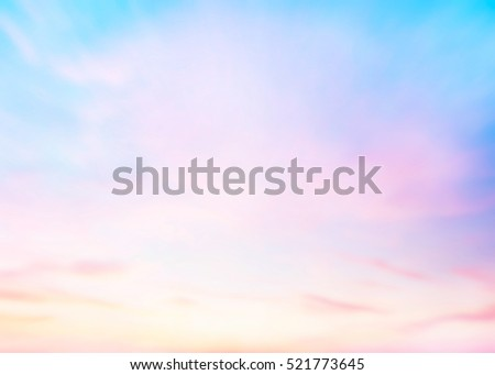 Stock Photo The blur pastels gradient sunset background on soft nature sunrise peaceful morning beach outdoor. heavenly mind view at a resort deck touching sunshine, sky summer clouds.