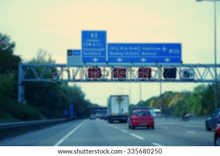 The blurry scene of car among the motorway road represent the transportation concept related idea.