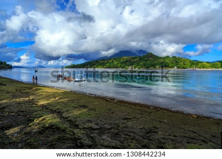 the boat rests on one of the beaches on the side of the road. On the island of Alor, boats are one of the means of transportation and also for their livelihood, which is partly for fishermen