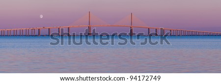 The Bob Graham Sunshine Skyway Bridge as viewed from Fort De Soto Park in Tierra Verde, Florida