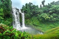The Bolaven Plateau, Tad Yuang or Yuang fall, The big waterfall in green jungle near Pakse,Champasak,Laos