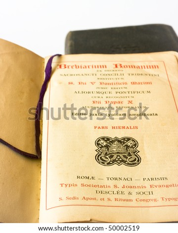 The book of Catholic Church liturgy