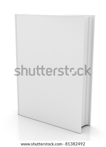The book on white background. 3d render