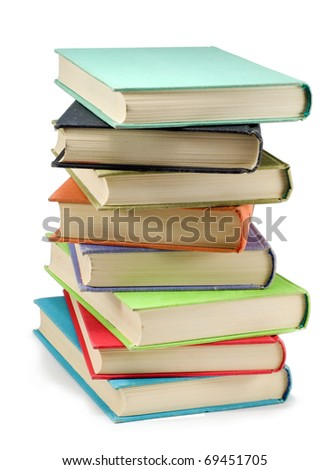 The books on a white background